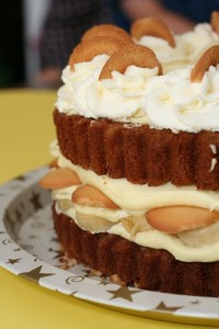Banana Pudding Cake close up